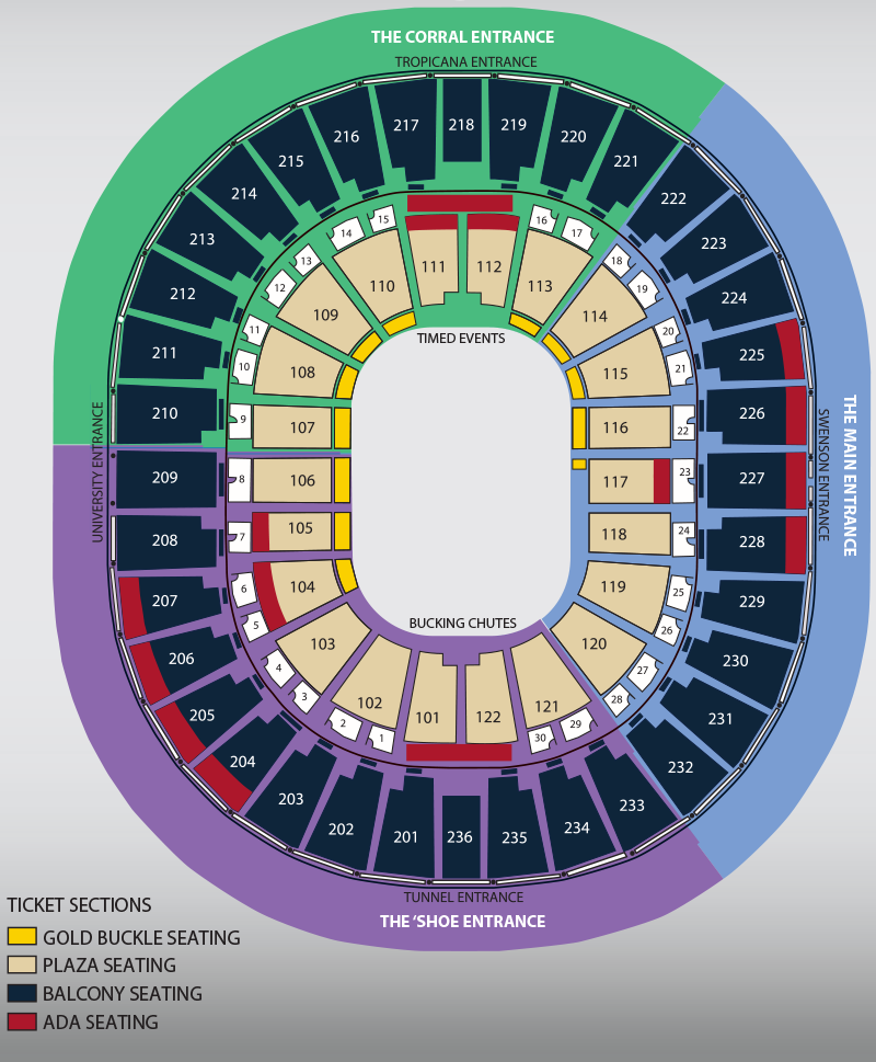 Seat Map The Official Nfr Experience