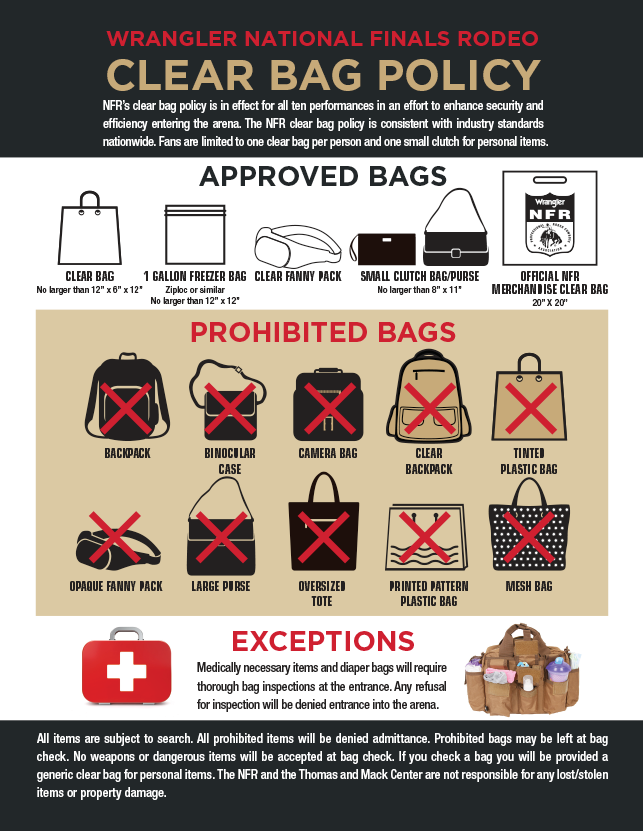 NFR 2020  Clear Bag policy for the visitor