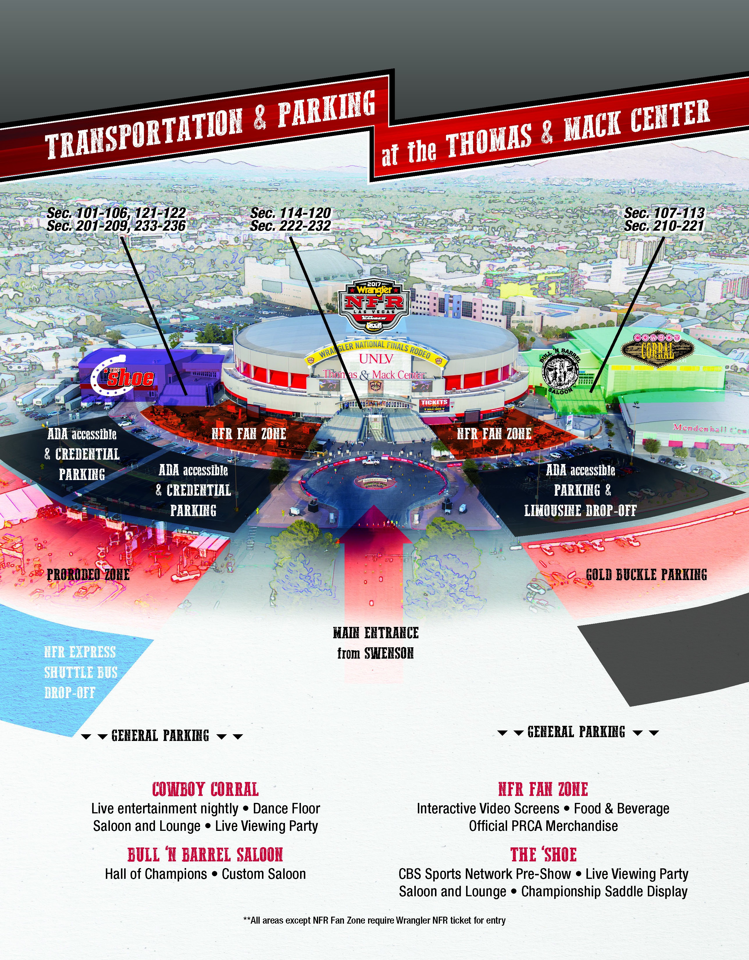 Thomas Amp Mack Center Grounds Map The Official Nfr Experience